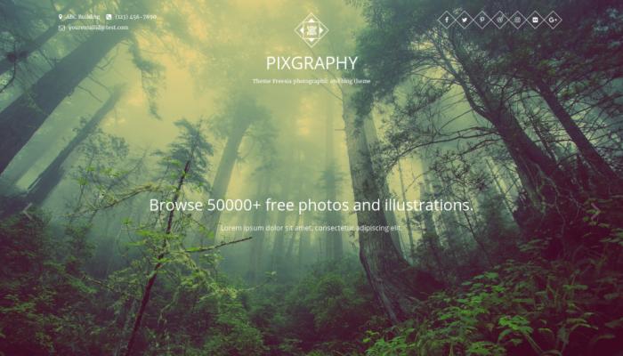 پیش نمایش دسکتاپ قالب وردپرس Pixgraphy
