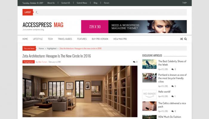 پیش نمایش دسکتاپ قالب وردپرس AccessPress Mag