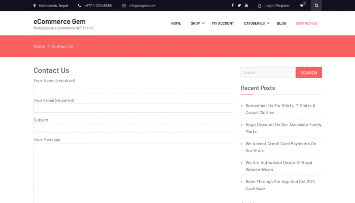 پیش نمایش دسکتاپ قالب وردپرس eCommerce Gem