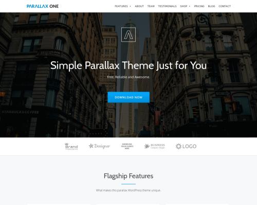 دانلود رایگان قالب وردپرس Parallax One