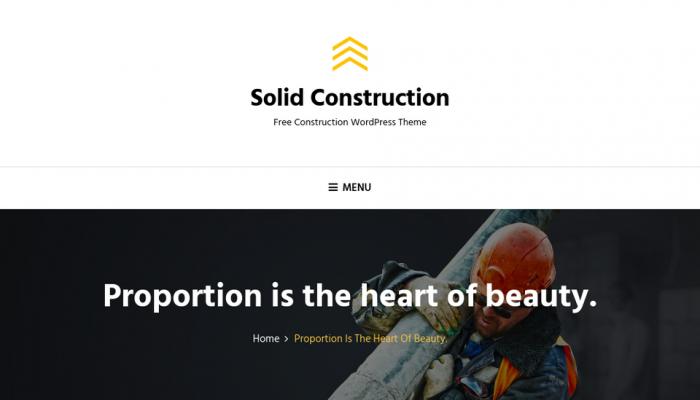 پیش نمایش دسکتاپ قالب وردپرس Solid Construction