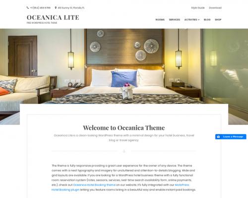 دانلود رایگان قالب وردپرس Oceanica Lite