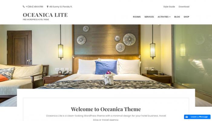 پیش نمایش دسکتاپ قالب وردپرس Oceanica Lite