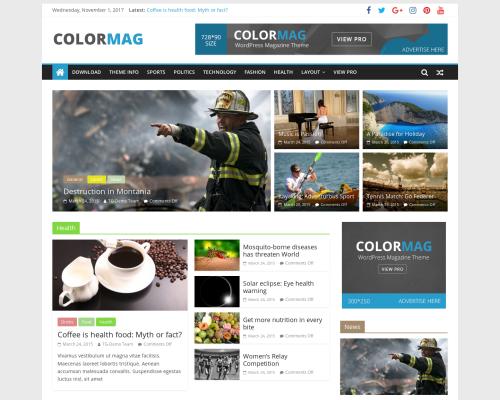 دانلود رایگان قالب وردپرس ColorMag