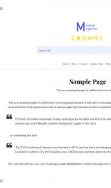 پیش نمایش موبایل قالب وردپرس Minimal Magazine