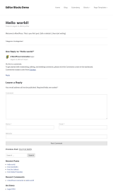 پیش نمایش موبایل قالب وردپرس Editor Blocks