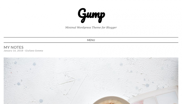 پیش نمایش دسکتاپ قالب وردپرس Gump