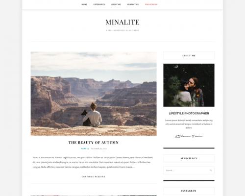 دانلود رایگان قالب وردپرس MinaLite