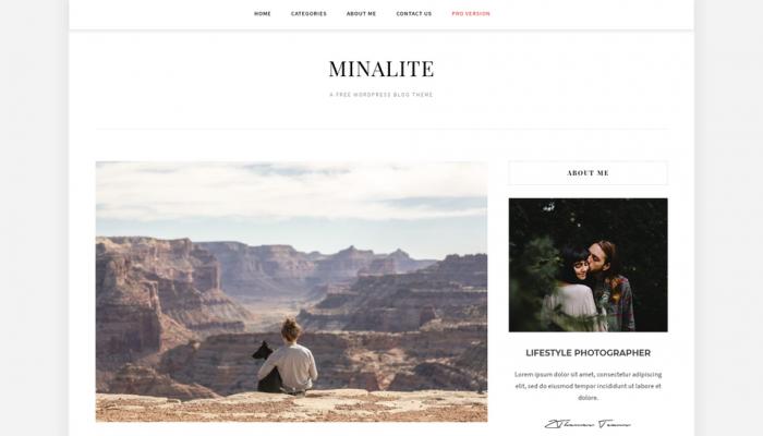 پیش نمایش دسکتاپ قالب وردپرس MinaLite