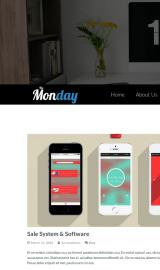 پیش نمایش موبایل قالب وردپرس The Monday