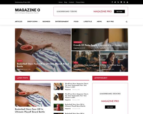 دانلود رایگان قالب وردپرس Magazine O