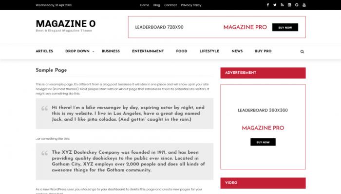 پیش نمایش دسکتاپ قالب وردپرس Magazine O