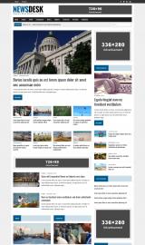 پیش نمایش موبایل قالب وردپرس MH Newsdesk Lite
