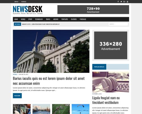 دانلود رایگان قالب وردپرس MH Newsdesk Lite