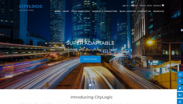 پیش نمایش دسکتاپ قالب وردپرس CityLogic