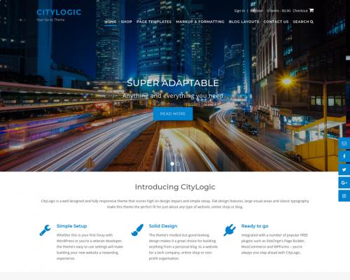 دانلود رایگان قالب وردپرس CityLogic