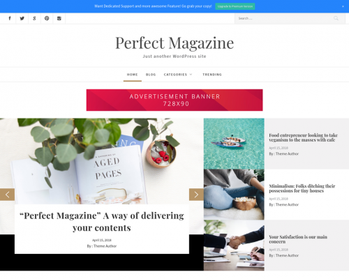 دانلود رایگان قالب وردپرس Perfect Magazine