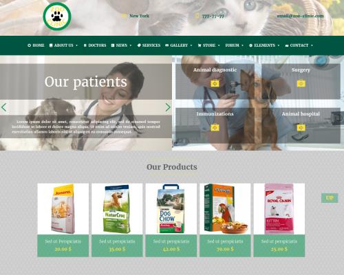 دانلود رایگان قالب وردپرس Zoo-Clinic