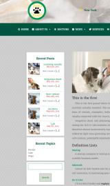 پیش نمایش موبایل قالب وردپرس Zoo-Clinic