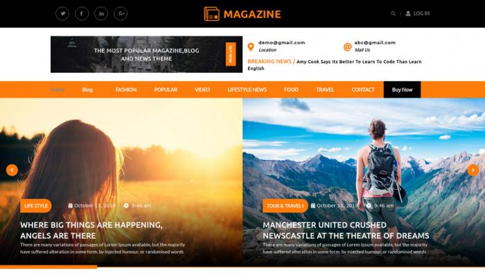 پیش نمایش دسکتاپ قالب وردپرس Multipurpose Magazine