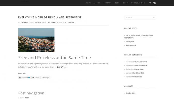 پیش نمایش دسکتاپ قالب وردپرس ShopIsle