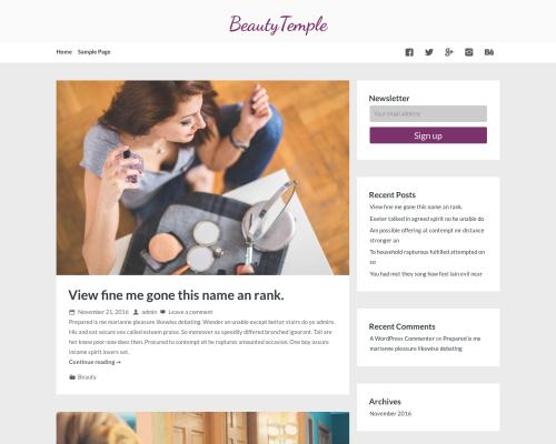 دانلود رایگان قالب وردپرس BeautyTemple