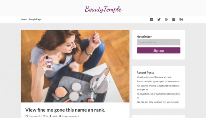 پیش نمایش دسکتاپ قالب وردپرس BeautyTemple