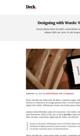 پیش نمایش موبایل قالب وردپرس Deck