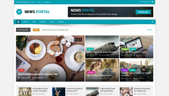 پیش نمایش دسکتاپ قالب وردپرس News Portal