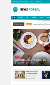 پیش نمایش موبایل قالب وردپرس News Portal