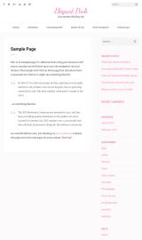 پیش نمایش موبایل قالب وردپرس Elegant Pink