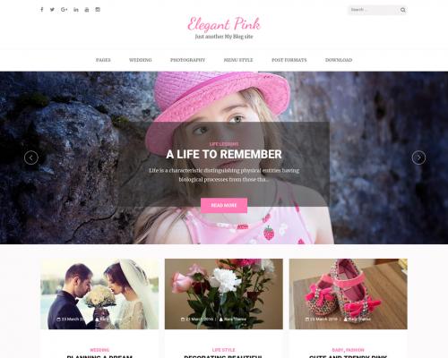 دانلود رایگان قالب وردپرس Elegant Pink