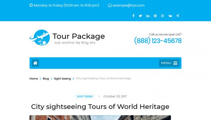 پیش نمایش دسکتاپ قالب وردپرس Tour Package