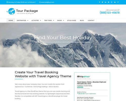 دانلود رایگان قالب وردپرس Tour Package