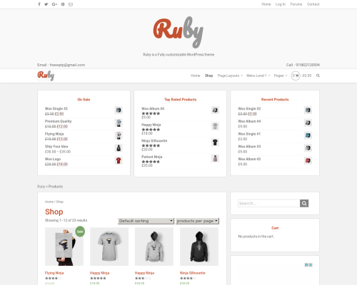 دانلود رایگان قالب وردپرس Ruby