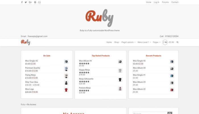 پیش نمایش دسکتاپ قالب وردپرس Ruby