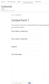 پیش نمایش موبایل قالب وردپرس Customizr