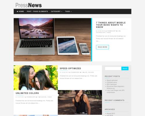 دانلود رایگان قالب وردپرس PressNews