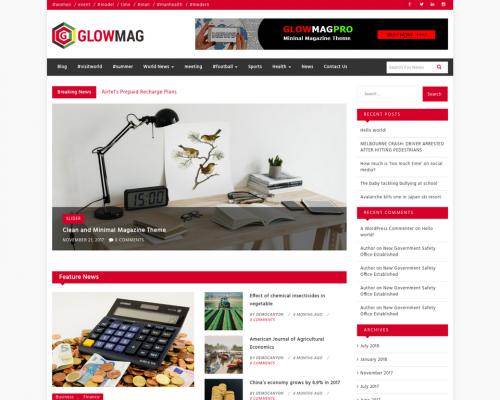 دانلود رایگان قالب وردپرس GlowMag