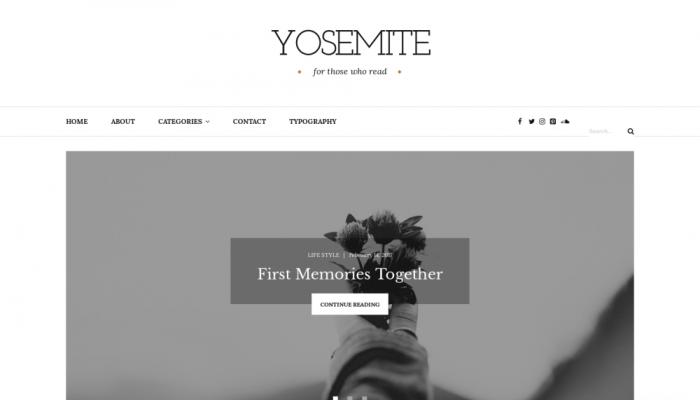 پیش نمایش دسکتاپ قالب وردپرس Yosemite Lite