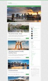 پیش نمایش موبایل قالب وردپرس Travelify
