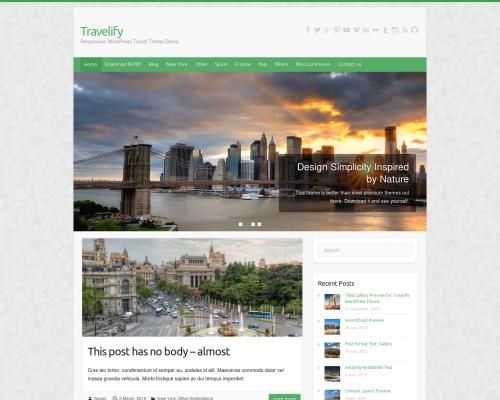 دانلود رایگان قالب وردپرس Travelify