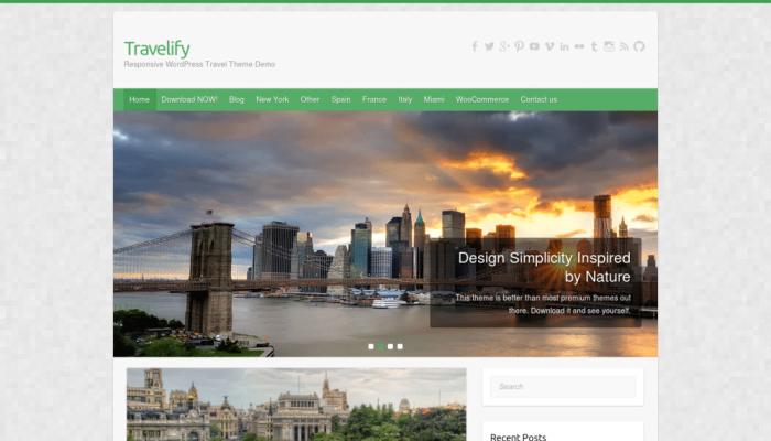 پیش نمایش دسکتاپ قالب وردپرس Travelify