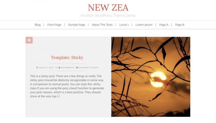 پیش نمایش دسکتاپ قالب وردپرس New Zea
