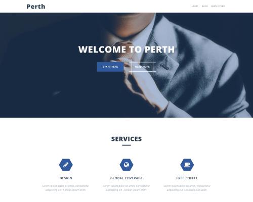 دانلود رایگان قالب وردپرس Perth