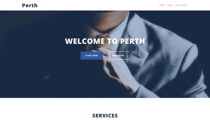 پیش نمایش دسکتاپ قالب وردپرس Perth