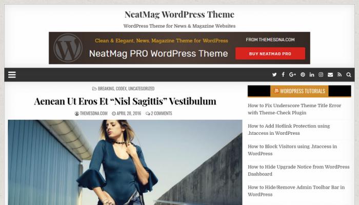 پیش نمایش دسکتاپ قالب وردپرس NeatMag