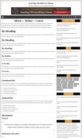 پیش نمایش موبایل قالب وردپرس NeatMag