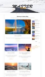 پیش نمایش موبایل قالب وردپرس Master Blog