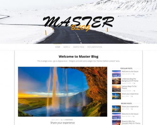 دانلود رایگان قالب وردپرس Master Blog